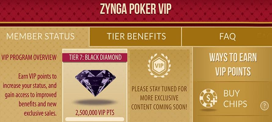 Zynga Poker vip
